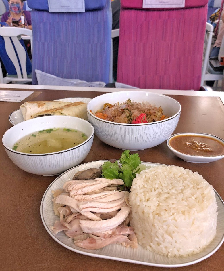 thai airways airplane restaurant