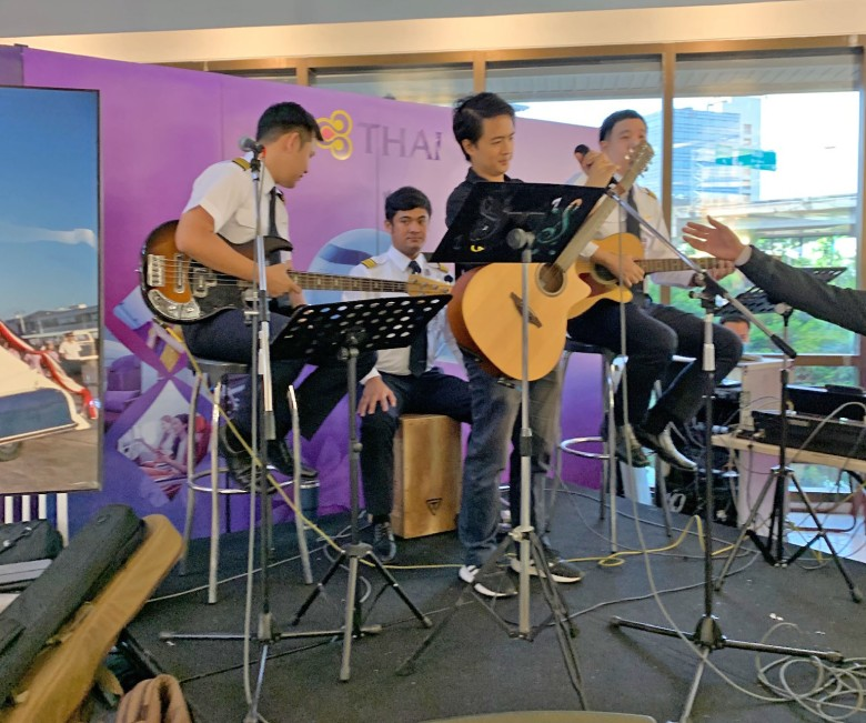 thai airways pilot band