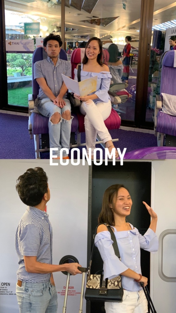 thai airways economy airplane