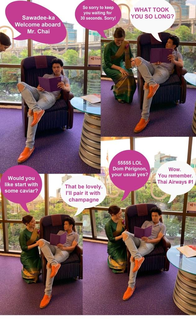 Thai Airways First Class Conversation