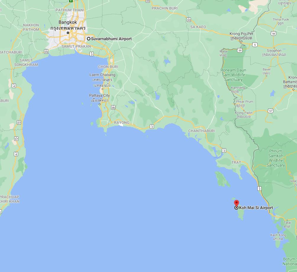 Soneva Kiri map
