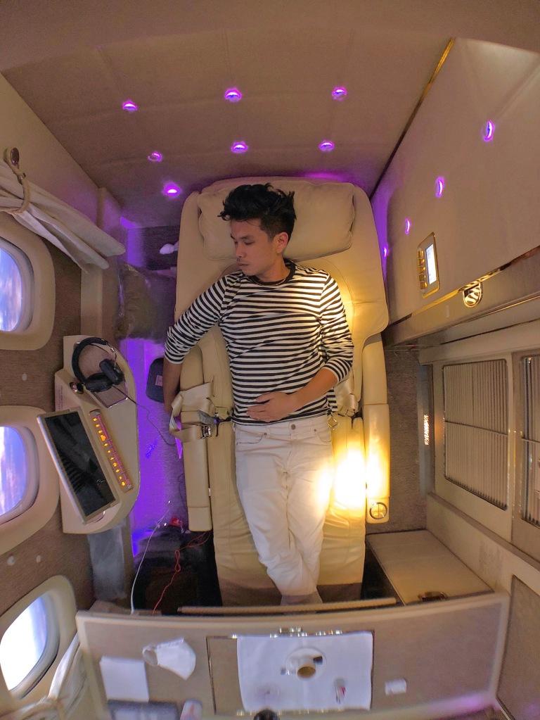 Emirates Mercedes Benz NASA zero gravity suite