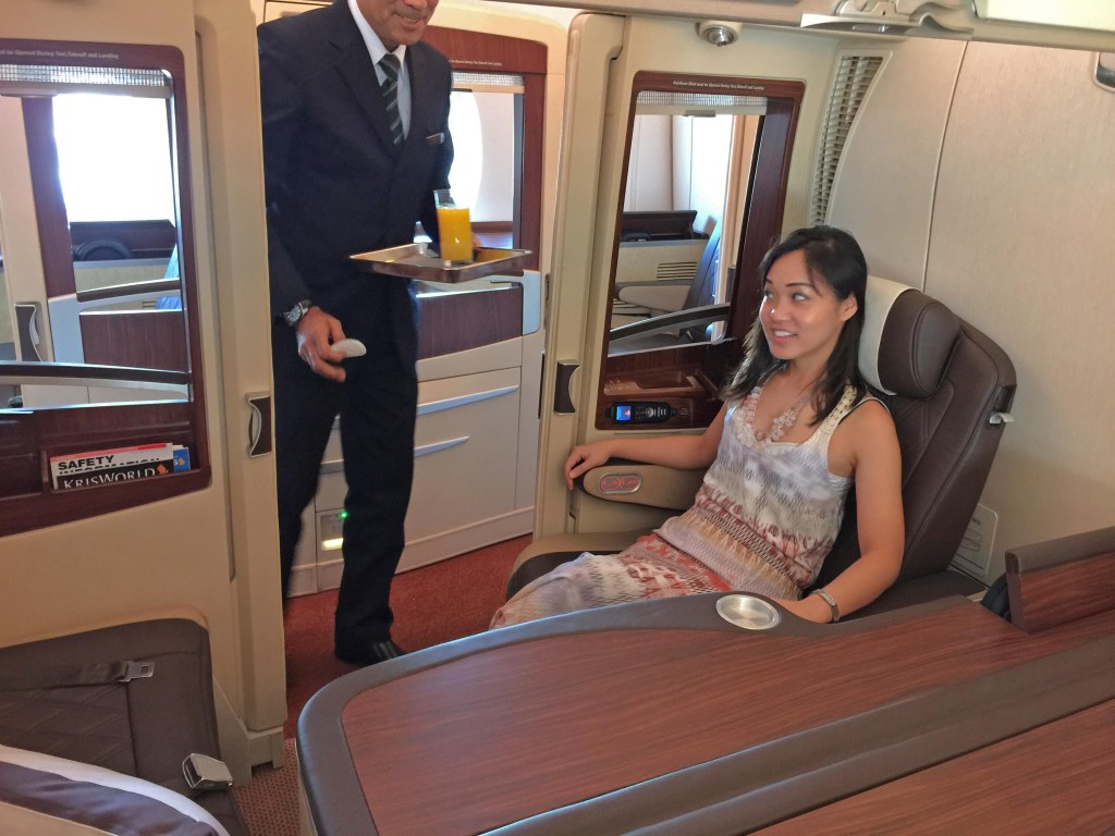 Singapore Airlines Suite Class Welcome Aboard